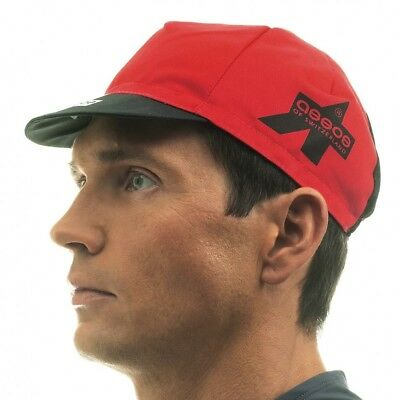 Assos Summer Cycling Cap with Mesh Panel - Red