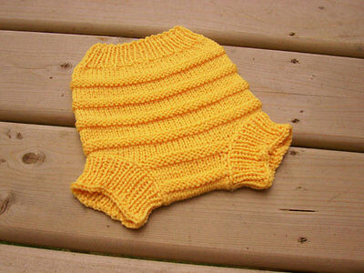 Hand Knitted Wool Cloth Diaper Cover baby nappy cover size Small NB - 6 month