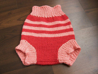 Hand Knitted Wool Cloth Diaper Cover baby nappy cover size Medium 6-12 month