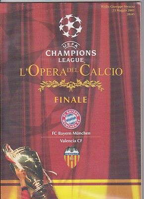 2001 Champions League Final Bayern Munich v Valencia includes extras