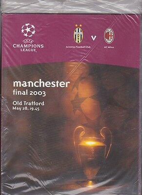 2003 Champions League Final Juventus v AC Milan ORIGINAL, MINT ,SEALED