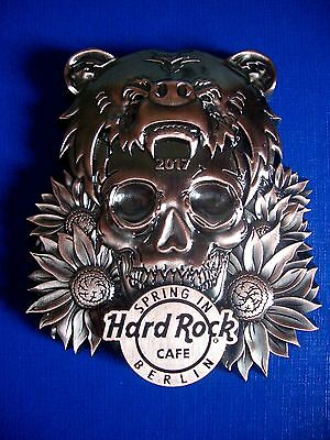HRC Hard Rock Cafe Berlin Spring In 2017 3D Magnet Bottle Opener Skull Bear LE