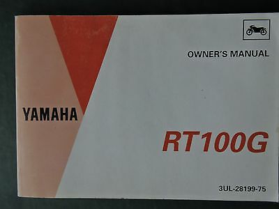 Yamaha RT100G Motorcycle Owner's Manual Issued 1994 English and French