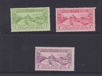 NZ 1925 1d-4d DUNEDIN EXHIBITION  set SG 463-5 cat £32 LHM (3)