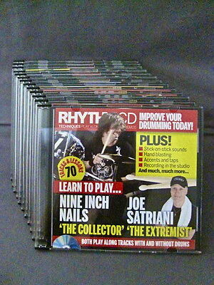13 Free Gift Instruction Video CDs from RHYTHM MAGAZINE in 2007 For Drummers NEW