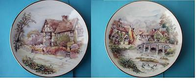 Pair of Vintage and Collectable 'China Classic' Plate with Cottage Scene