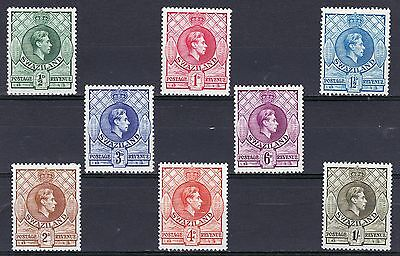 Swaziland-1938/54.8 values to 1/-.Top 2 rows P131/2x13. Cat.£48. Very fresh MM.