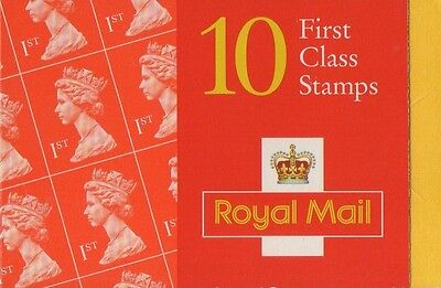 GB QEII 1998 Barcode Cylinder NVI Booklet - 10 x 1st Cl  HD51