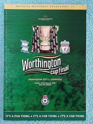 2001 - LEAGUE CUP FINAL PROGRAMME - BIRMINGHAM CITY v LIVERPOOL