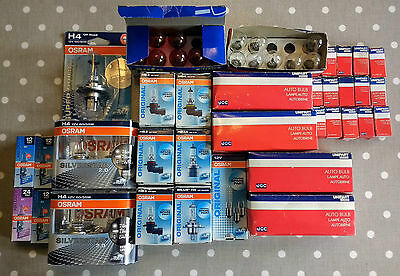 Job Lot Osram / Unipart Car Automotive Bulbs, for Resale, Garage, New Old Stock