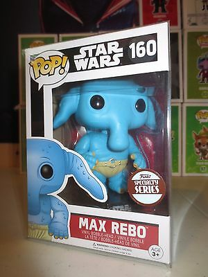 FUNKO POP! MAX REBO STAR WARS #160 SPECIALTY SERIES EXCLUSIVE w free protector