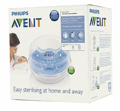 Philips AVENT Microwave Steam Baby Bottles Sterilizer Feeding Warmer Feeder Cups