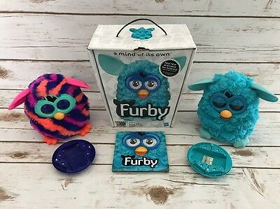 Hasbro Interactive 2012 Talking FURBY Electronic Toy Lot Furbies Box Purple Fig