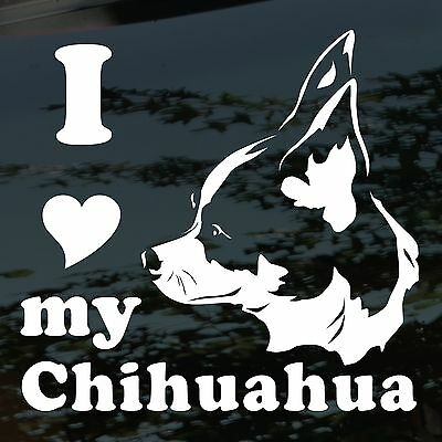 Chiwawa Dog Decal. I Love My Chihuahua Dog Sticker.  Chiwawa Dog Lovers Decal.
