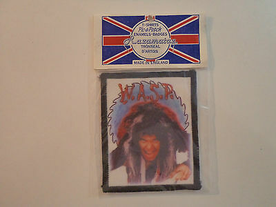 Vintage WASP  80s Unused PATCH heavy metal iron maiden dio ozzy venom shirt t lp