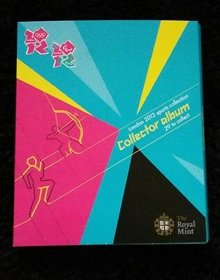 LONDON OLYMPICS 2012 FULL SET 50P Pence COINS & ALBUM Mint Condition