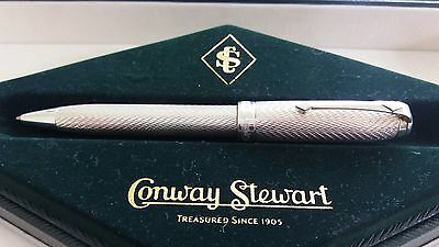 "Conway Stewart 58 ""sterling Silver"" Ball Point Pen  - Rare -  Nice Wow Looook"