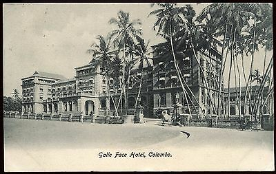 Vintage Postcard Galle Face Hotel Colombo Used Ref: KA091