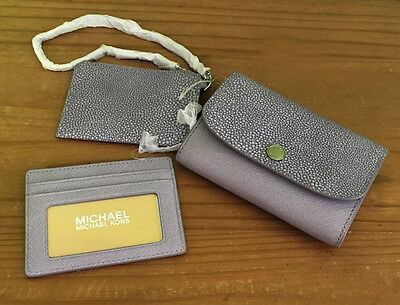 Michael Kors Juliana Lilac Leather Wallet Purse / Card Holder / Coin Pouch
