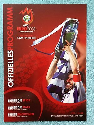 2008 - EUROPEAN CHAMPIONSHIP TOURNAMENT PROGRAMME - German Language Edition