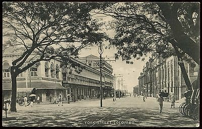 Vintage Postcard York Street Colombo Unused Ref: KA096