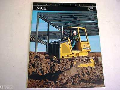 John Deere 550H Crawler Dozer Color Brochure                                  b2
