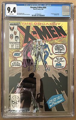 The Uncanny X-Men #244 ⭐️ CGC Graded 9.4 ⭐️ 1st First Jubilee