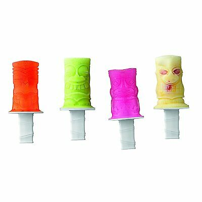 Tovolo Popsicle Mould - Silicone - Tikis - 4 pops