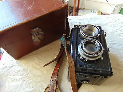 Vintage Voigtlander Brillant TLR 75mm f3.5 HELIAR Compur Rapid Model Camera RARE