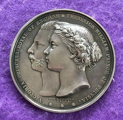 historical medals medallions  1858 Marriage of Princess Victoria