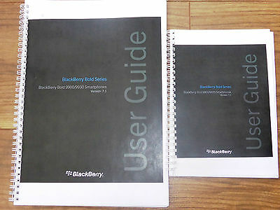 ~PRINTED~ Blackberry Bold 9900 9930 user guide instruction manual  A4 or A5