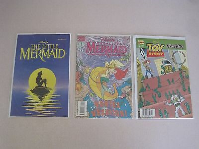 Disney's The Little Mermaid #1 & 4 plus Toy Story #15 Marvel Comics Lot of 3