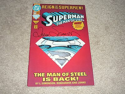 Superman The Man of Steel #22 Signed by Louise Simonson  DC COMICS 1993