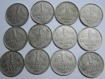 Germany 1 Mark Lot 12 Coins 1961 - 1962 - 1964