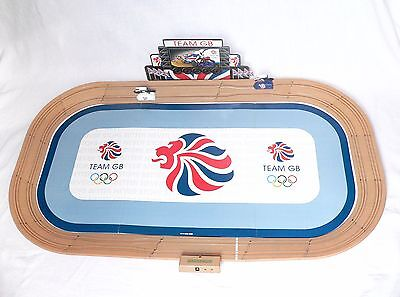 Scalextric Velodrome Cycling Set Team GB with Box and Instructions