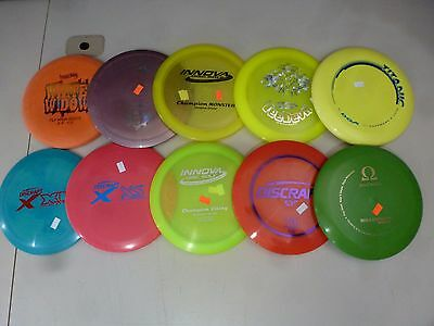 Disc Golf- Lot of 10 Brand-New discs, 172-175g.Good for leagues, prizes, backup!