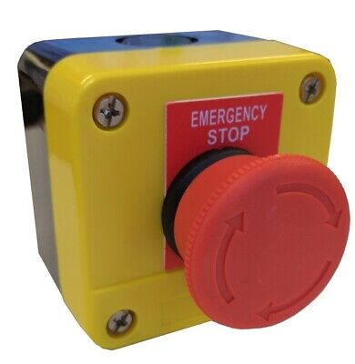 Emergency Stop Station-Twist Release With 1 Nc Contact Ip65