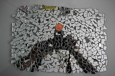 Mosaic off cuts Silver Mirror Glass, Art & Craft 500 pcs, 2 mm thick