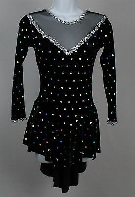 Star Styled Womens Figure Ice Skating Costume Dress Size Small