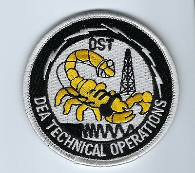 US DEA Drug Enforcement Administration TECHNICAL OPERATIONS OST patch - NEW!