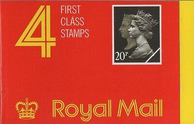 GB QEII 1990 Barcode Cylinder Booklet - 4 x 1st Cl (20p) Stamps JB1