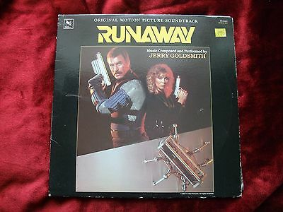 Jerry Goldsmith Runaway Original Motion Picture Soundtrack LP 1985 Tom Sellick