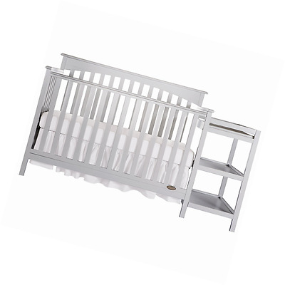 Dream On Me Chloe 5-in-1 Convertible Crib with Changer, Grey