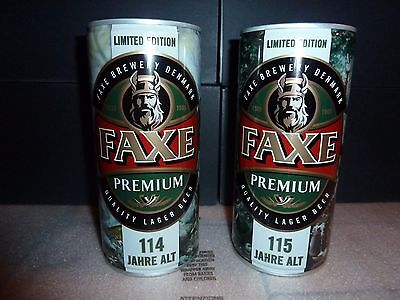 NEW 2 x FAXE Bier Dosen Beer 114 + 115 Full SAGA RAGNAR LODBROK LIMITED EDITION