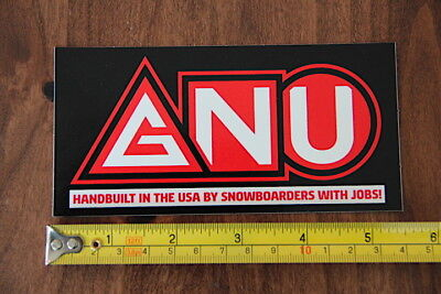 GNU Snowboards STICKER Decal NEW USA Red