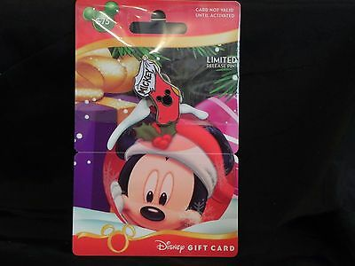 Disney Christmas 2012 Holiday Gift Card Stocking Pin Set of 4 (mickey & friends)
