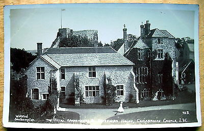Real photo PC Royal Apartments Carisbrooke Castle  Isle of Wight Willsteed B870