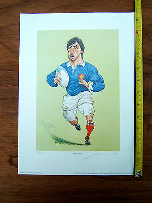 Limited Edition Print John Ireland Signed Autographed Philippe Sella Rugby Union