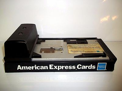 Vintage DataCard Addressograph AMEX Manual Credit Card Machine -AS IS