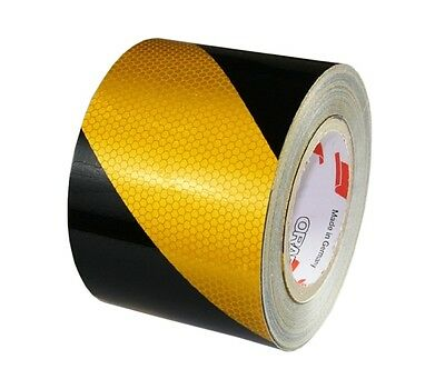 rm. x 100mm Orafol 5831 Industry WARNING MARKINGS RA2 Reflective Yellow/Black